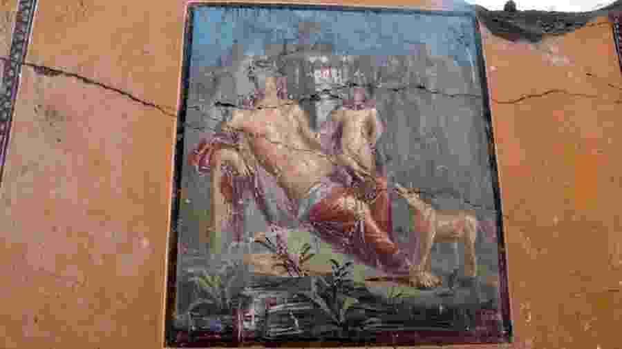 Afresco descoberto em Pompeia, na Itália - Ansa