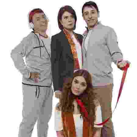 Rodrigo Fagundes, Françoise Forton, Cassio Scapin e Simone Zucato na peça Sylvia - Victor Hugo Cecatto