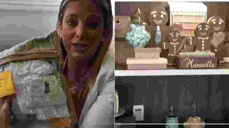 Ticiane Pinheiro mostra decoração do quarto  da maternidade e roupinhas da filha recém-nascida, Manuella - Reprodução/YouTube