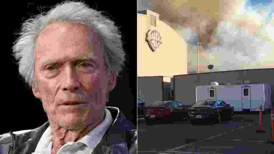 Aos 89 anos, Clint Eastwood não deixou um incêndio florestal próximo dos estúdios o tirar do trabalho - Reprodução/Instagram