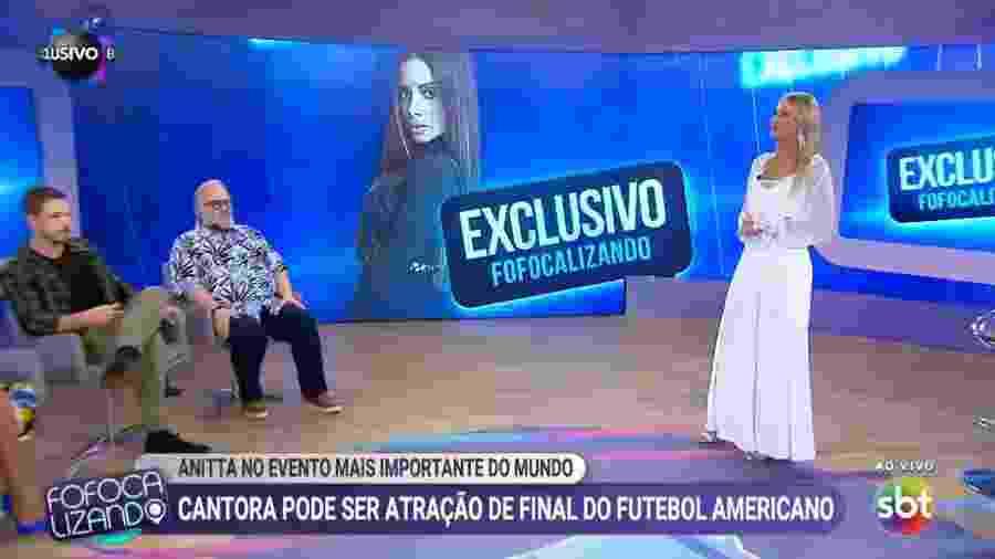 Programa Fofocalizando debate sucesso de Anitta no exterior - Reprodução/SBT