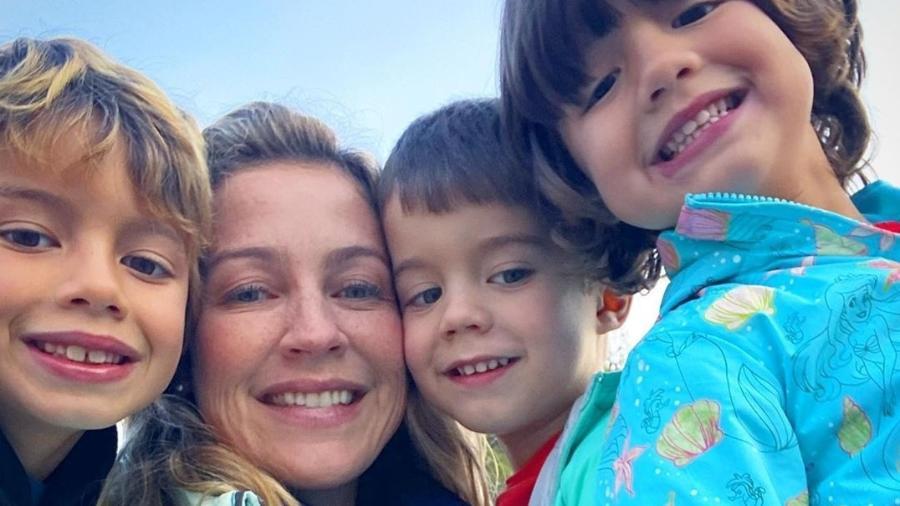 Luana Piovani e filhos Dom, Liz e Bem - Reprodução/Instagram
