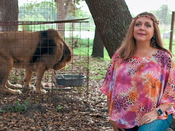 Carole Baskin, do documentário 'A Máfia dos Tigres', da Netflix