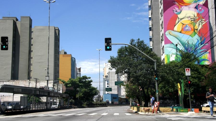 A rua da Consolação, na esquina coma Avenida Paulista, na cidade de São Paulo - Lincoln K./Futura Press/Estadão Conteúdo