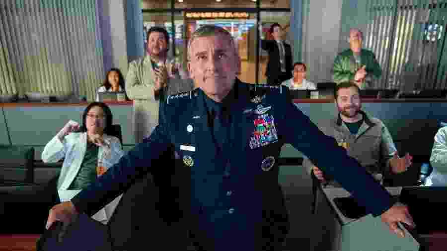 """Cena de """"Space Force"""" na Netflix - Divulgação/Netflix"""