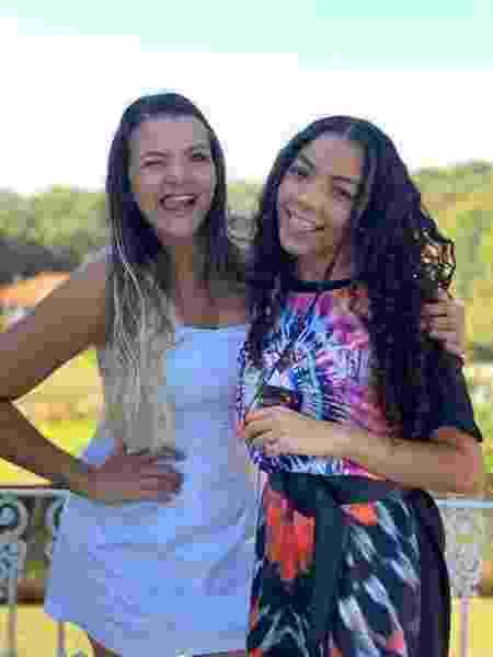 Any Gabrrielly e a mãe Priscila - Acervo pessoal - Acervo pessoal