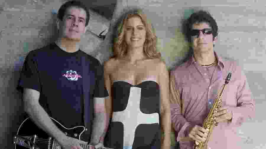 Formação principal do Kid Abelha: Bruno Fortunato (e), Paula Toller e George Israel - Reprodução/Instagram