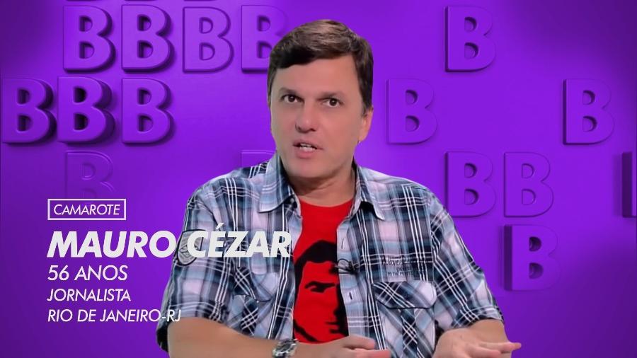 """Montagem brinca com participação do comentarista Mauro Cezar no """"BBB 21"""" - Reprodução/Twitter"""