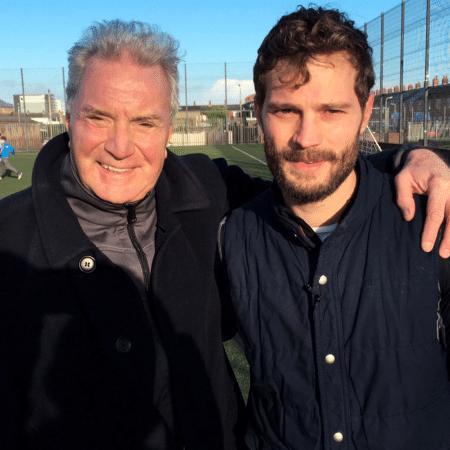 O ator Jamie Dornan com o pai, Jim, que morreu de covid - Reprodução/Instagram