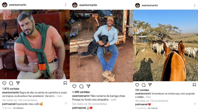 Alguns dos comentários de Joelma nas fotos de Ewerton Martins - Reprodução/Instagram - Reprodução/Instagram