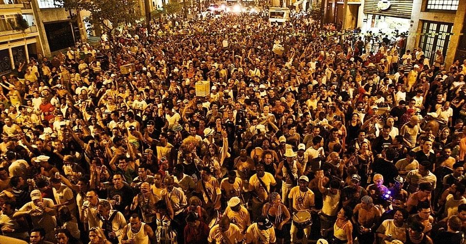 Músicos e público na Xavier de Toledo em São Paulo