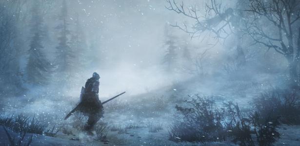 O mundo de Ariandel não parece muito convidativo: espere encontrar muita neve e neblina - Reprodução