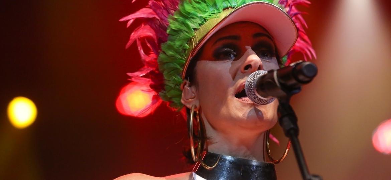 Fernanda Abreu foi uma das convidadas do Show de Verão da Mangueira, realizado no Rio de Janeiro, no Vivo Rio - Roberto Filho/Brazil News