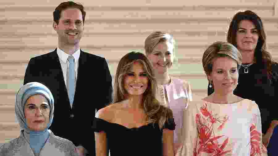Primeiras-damas no encontro da Otan Imagem AFP