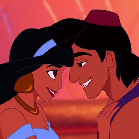 Aladdin e Jasmine em cena da animação de 1992 - Divulgação