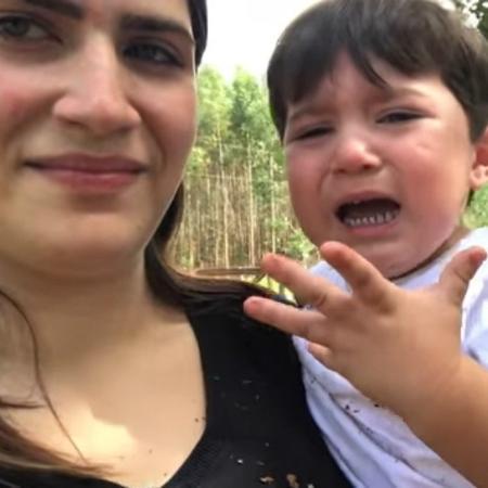 Jéssica Costa fez um vídeo com os tombos do filho Noah - Reprodução/Youtube