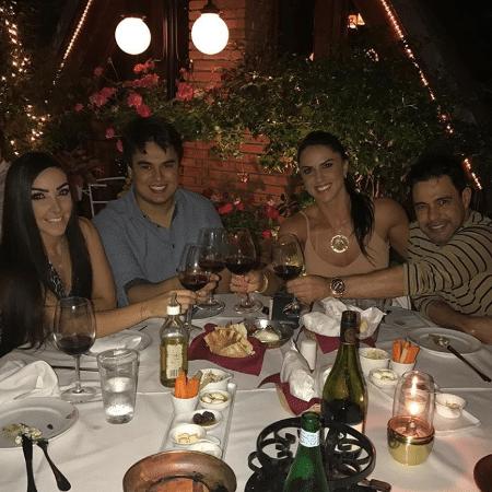 Amabylle Eiroa, Igor Ci, Graciele Lacerda e Zezé Di Camargo - Reprodução/Instagram/zezedicamargo