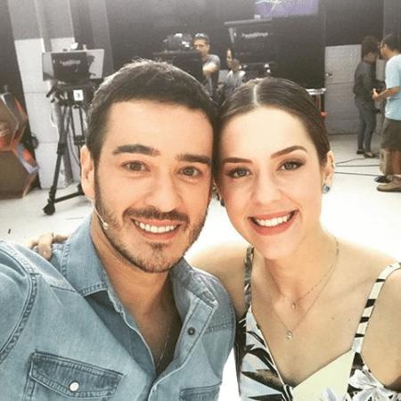 """Marcos Veras e Sophia Abrahão no """"Vídeo Show"""" - Reprodução/Instagram/omarcosveras"""