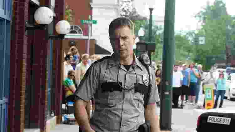 """O ator Sam Rockwell em """"Três Anúncios Para um Crime"""" - Reprodução - Reprodução"""