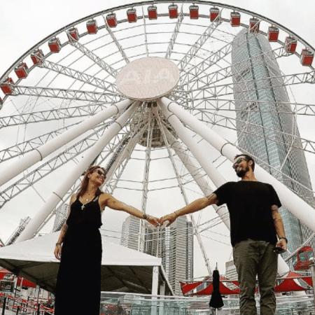 Paulo Vilhena e Amanda Beraldi em Hong Kong - Reprodução/Instagram