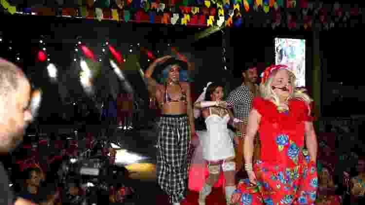 Pabllo Vittar com Thaynara OG e Anderson Tomazini em festa junina no Maranhão - Denilson Santos e Dilson Silva/AgNews - Denilson Santos e Dilson Silva/AgNews