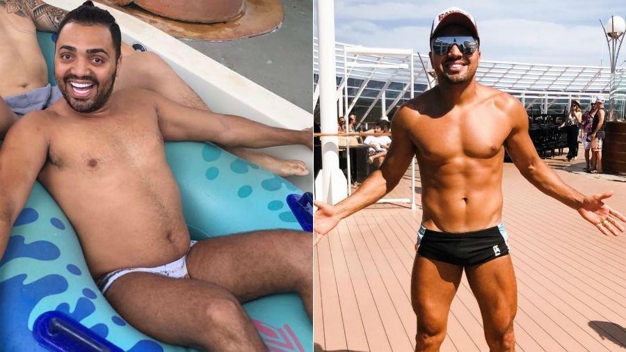 Tirulipa antes e depois de perder mais de 10 quilos: foco nos gominhos - Reprodução/Instagram