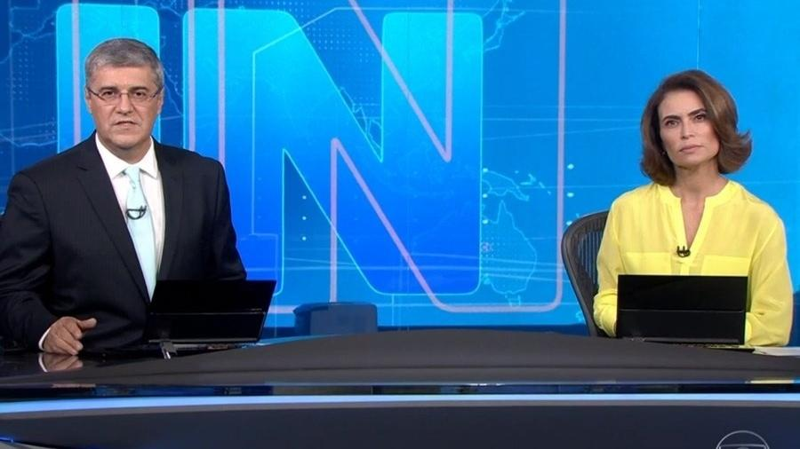 Flavio Fachel apresentou plea primeira vez o Jornal Nacional ao lado de Giuliana Morrone. - Reprodução/TV Globo