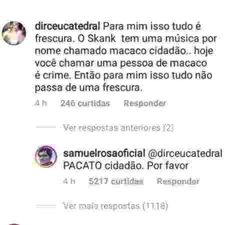 Samuel Rosa corrige seguidor que errou música do Skank - Reprodução/Instagram - Reprodução/Instagram