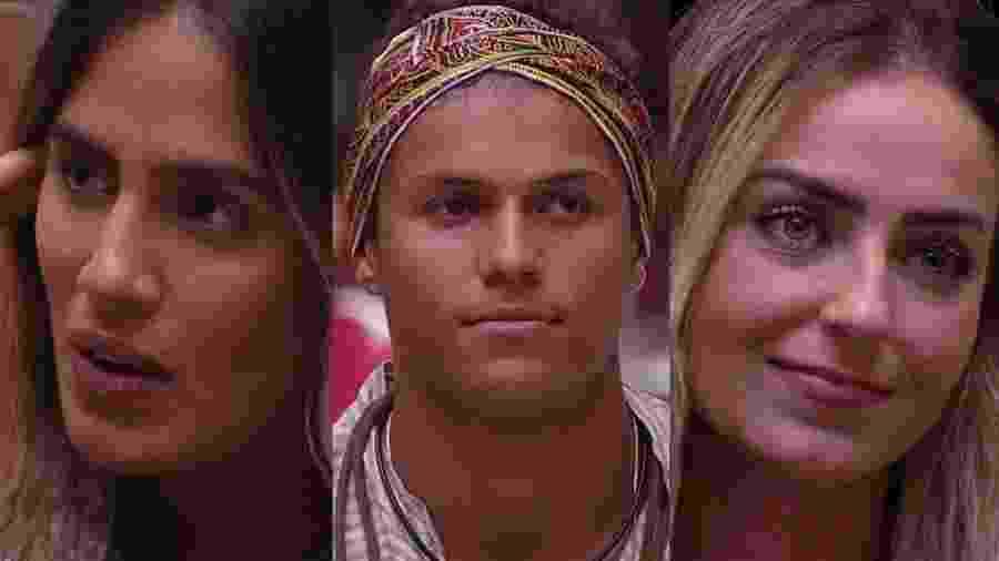 Carolina, Darnley e Paula formam o oitavo paredão  - Montagem/TvGlobo