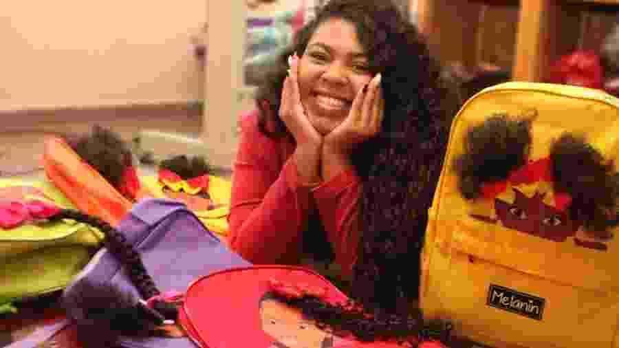 Geisa Antunes, fundadora da marca Melanin, de mochilas para meninas negras - Paula Lima Fotografia/Divulgação
