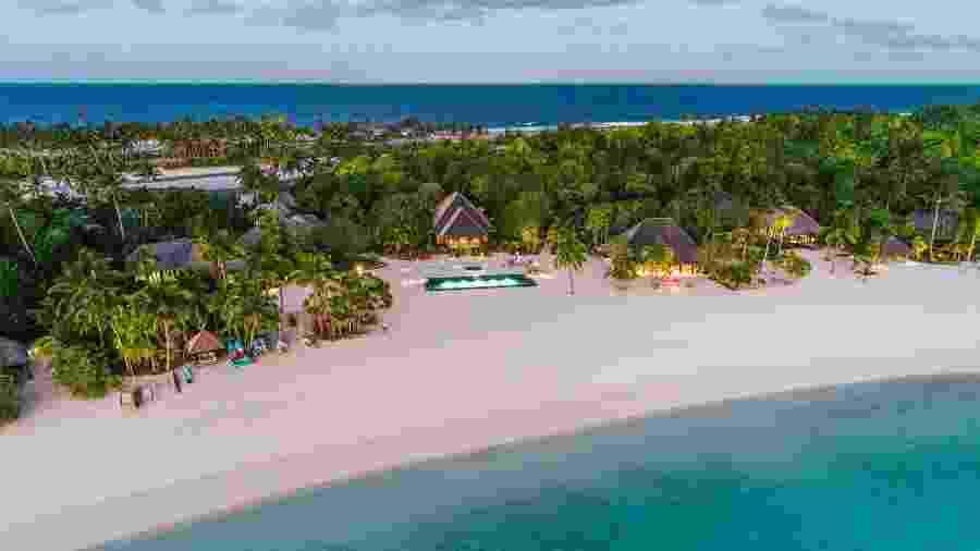 Ilha particular em Nukutepipi, na Polinésia Francesa, está disponível para aluguel no Airbnb Luxe - Divulgação/Airbnb