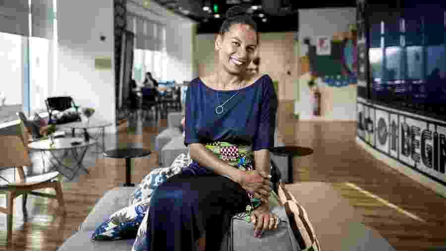 Maxine Williams, diretora global de diversidade do Facebook, fez uma rápida passagem pelo Brasil nesta segunda-feira (22) - Keiny Andrade/UOL