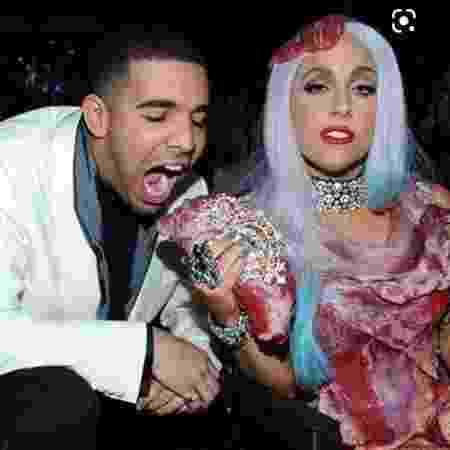 Lady Gaga e Drake, em 2010 - Reprodução/Instagram/ladygaga