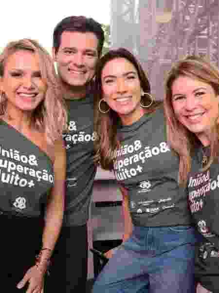 Eliana, Celso Portiolli, Patrícia Abravanel e Daniela Beyruti na festa do SBT - Instagram