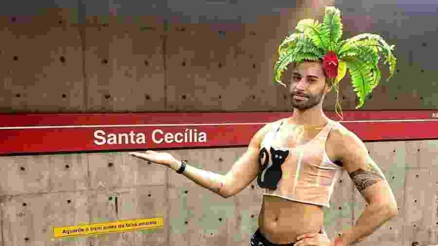 Fantasia de Santa Cecilier é tendência no Carnaval - Reprodução/Instagram