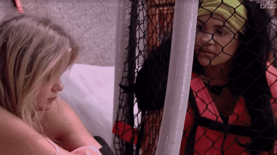 Flay conversa com Marcela no BBB 20 - Reprodução/Globoplay