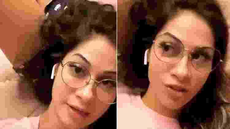 Mayra Cardi, deitada no colo do ex Arthur Aguiar, lamenta piadas na internet - Reprodução/Instagram - Reprodução/Instagram