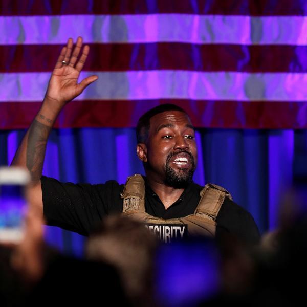Kanye West em comício na Carolina do Sul