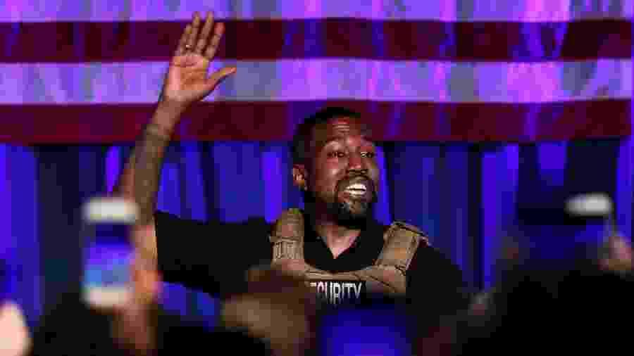 19.jul.2020 - Kanye West discursa em comício na Carolina do Sul - REUTERS/Randall Hill