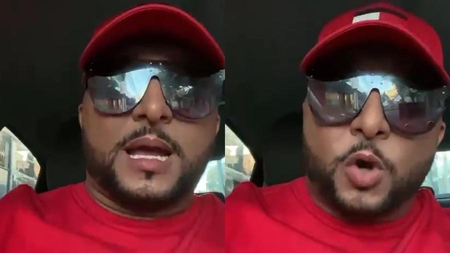 MC Roba Cena fez relato em vídeo nas redes sociais - Reprodução/Instagram