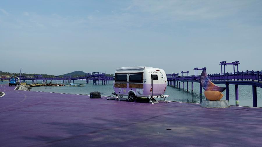 Ilhas roxas atraem turistas - DAEWOUNG KIM/REUTERS