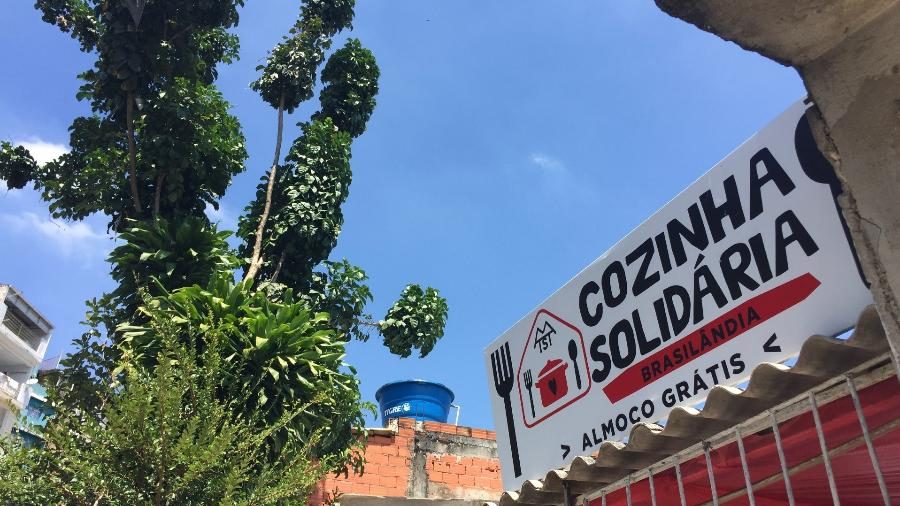 Fachada da Cozinha Solidária, em Brasilândia, São Paulo - Adriana Terra/UOL