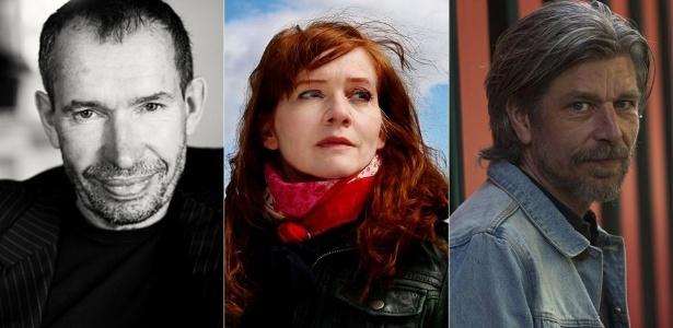 Os escritores nórdicos Carsten Jensen, Audur Ava Ólafsdóttir e Karl Ove Knausgard - Divulgação/Divulgação/EFE