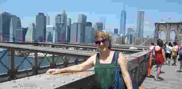 Iracema Genecco em viagem a Nova York - Arquivo pessoal