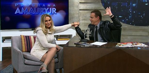 Rosemary falou sobre romance com o ex-jogador em entrevista a Amaury Jr. - Divulgação/RedeTV!
