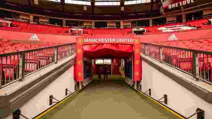 Estádio Old Trafford, do time de futebol Manchester United - VisitBritain/Andrew Pickett