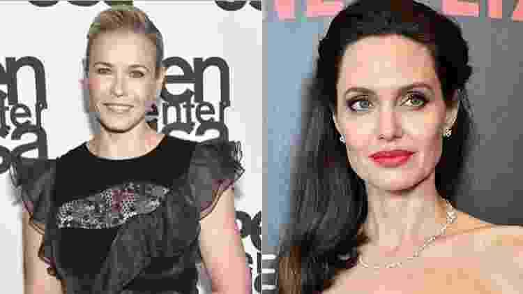 Chelsea Handler x Angelina Jolie - Reprodução/Instagram/AFP - Reprodução/Instagram/AFP