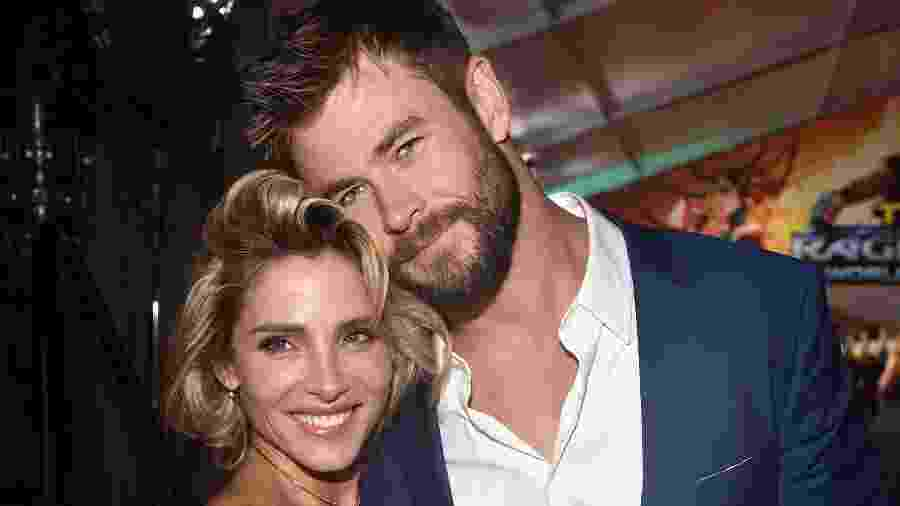 Chris Hemsworth e a mulher, Elsa Pataky - Alberto E. Rodriguez/Getty Images for Disney