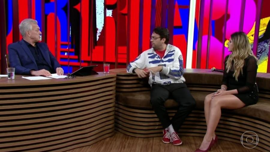 """Dani Calabresa e Fernando Caruso no """"Conversa com Bial"""" - Reprodução/Globoplay"""