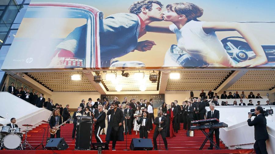 """Cerimônia de exibição de """"The Man Who Killed Don Quixote"""" no Festival de Cannes - Stephane Mahe/Reuters"""